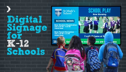 White Paper Explores the Use of Digital Signage in the K-12 Ecosystem